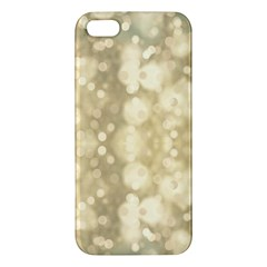 Light Circles, Brown Yellow Color Iphone 5s/ Se Premium Hardshell Case by picsaspassion