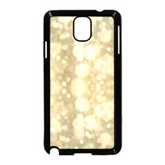 Light Circles, Brown Yellow Color Samsung Galaxy Note 3 Neo Hardshell Case (black) by picsaspassion