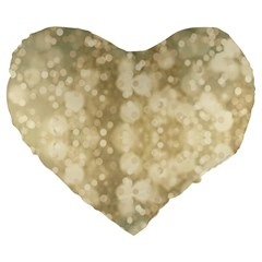 Light Circles, Brown Yellow Color Large 19  Premium Flano Heart Shape Cushions by picsaspassion