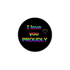 I Love You Proudly Golf Ball Marker by Valentinaart