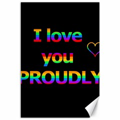 I Love You Proudly Canvas 12  X 18   by Valentinaart