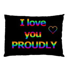 I Love You Proudly Pillow Case by Valentinaart