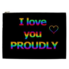 I Love You Proudly Cosmetic Bag (xxl)  by Valentinaart