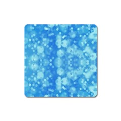 Light Circles, Dark And Light Blue Color Square Magnet by picsaspassion