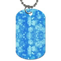Light Circles, Dark And Light Blue Color Dog Tag (one Side) by picsaspassion