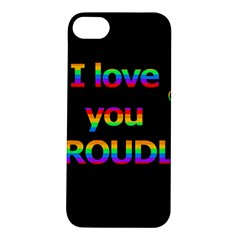 I Love You Proudly Apple Iphone 5s/ Se Hardshell Case by Valentinaart