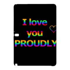 I Love You Proudly Samsung Galaxy Tab Pro 12 2 Hardshell Case by Valentinaart