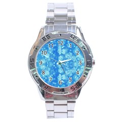 Light Circles, Dark And Light Blue Color Stainless Steel Analogue Watch by picsaspassion