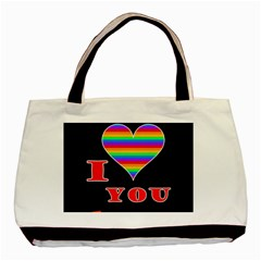 I Love You Basic Tote Bag by Valentinaart