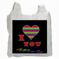 I Love You Recycle Bag (one Side) by Valentinaart