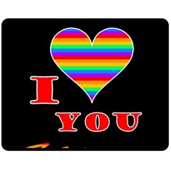 I Love You Fleece Blanket (medium)  by Valentinaart