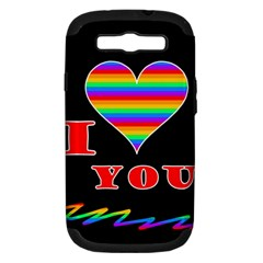 I Love You Samsung Galaxy S Iii Hardshell Case (pc+silicone) by Valentinaart
