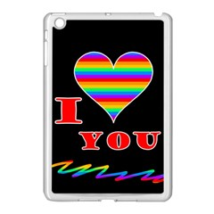 I Love You Apple Ipad Mini Case (white) by Valentinaart