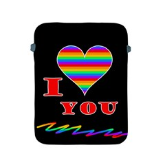 I Love You Apple Ipad 2/3/4 Protective Soft Cases by Valentinaart