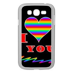 I Love You Samsung Galaxy Grand Duos I9082 Case (white) by Valentinaart