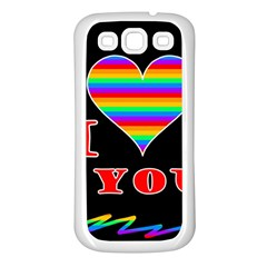 I Love You Samsung Galaxy S3 Back Case (white) by Valentinaart