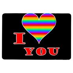 I Love You Ipad Air Flip by Valentinaart