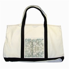 Light Circles, Blue Gray White Colors Two Tone Tote Bag by picsaspassion