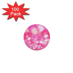 Pink Diamond  1  Mini Buttons (100 Pack)  by Brittlevirginclothing