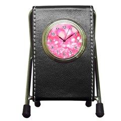 Pink Diamond  Pen Holder Desk Clocks by Brittlevirginclothing