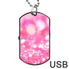 Pink Diamond  Dog Tag Usb Flash (two Sides)  by Brittlevirginclothing