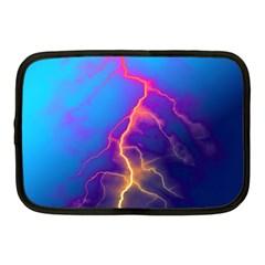 Lightning Colors, Blue Sky, Pink Orange Yellow Netbook Case (medium)  by picsaspassion