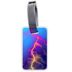 Lightning Colors, Blue Sky, Pink Orange Yellow Luggage Tags (one Side)  by picsaspassion