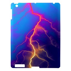 Lightning Colors, Blue Sky, Pink Orange Yellow Apple Ipad 3/4 Hardshell Case by picsaspassion