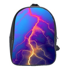 Lightning Colors, Blue Sky, Pink Orange Yellow School Bags (xl)  by picsaspassion