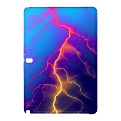 Lightning Colors, Blue Sky, Pink Orange Yellow Samsung Galaxy Tab Pro 10 1 Hardshell Case by picsaspassion
