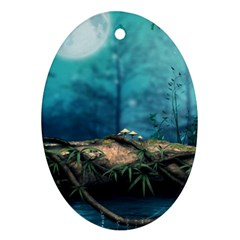 Mysterious Fantasy Nature  Oval Ornament (two Sides) by Brittlevirginclothing