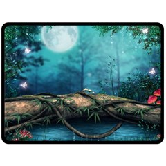 Mysterious Fantasy Nature  Double Sided Fleece Blanket (large)  by Brittlevirginclothing