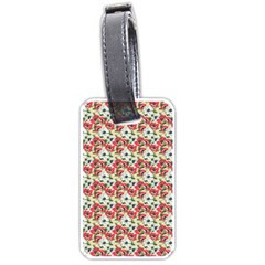 Gorgeous Red Flower Pattern Luggage Tags (one Side)  by Brittlevirginclothing
