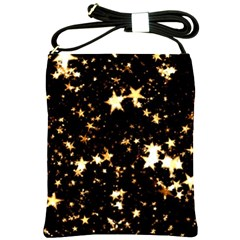 Golden Stars In The Sky Shoulder Sling Bags by picsaspassion