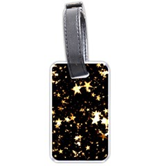 Golden Stars In The Sky Luggage Tags (one Side)  by picsaspassion