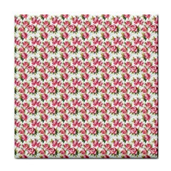 Gorgeous Pink Flower Pattern Tile Coasters by Brittlevirginclothing