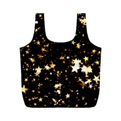 Golden Stars In The Sky Full Print Recycle Bags (m)  by picsaspassion