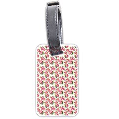 Gorgeous Pink Flower Pattern Luggage Tags (two Sides) by Brittlevirginclothing