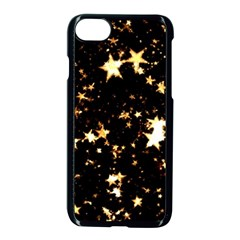 Golden Stars In The Sky Apple Iphone 7 Seamless Case (black)