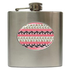 Cute Flower Pattern Hip Flask (6 Oz) by Brittlevirginclothing