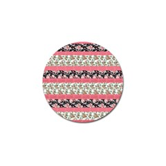 Cute Flower Pattern Golf Ball Marker (4 Pack) by Brittlevirginclothing
