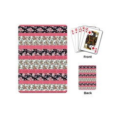 Cute Flower Pattern Playing Cards (mini)  by Brittlevirginclothing