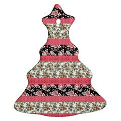 Cute Flower Pattern Christmas Tree Ornament (2 Sides) by Brittlevirginclothing