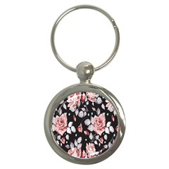 Vintage Flower Key Chains (round)  by Brittlevirginclothing