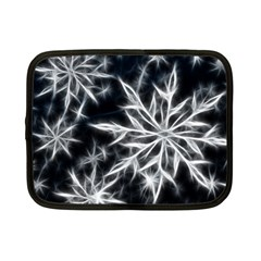 Snowflake In Feather Look, Black And White Netbook Case (small)  by picsaspassion