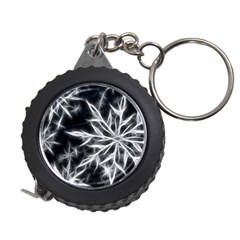 Snowflake In Feather Look, Black And White Measuring Tapes by picsaspassion