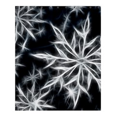 Snowflake In Feather Look, Black And White Shower Curtain 60  X 72  (medium)  by picsaspassion