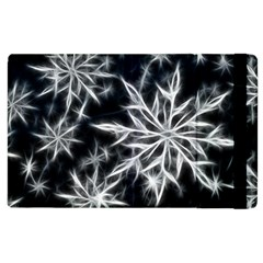 Snowflake In Feather Look, Black And White Apple Ipad 3/4 Flip Case by picsaspassion
