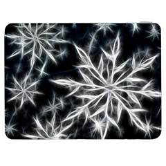 Snowflake In Feather Look, Black And White Samsung Galaxy Tab 7  P1000 Flip Case by picsaspassion
