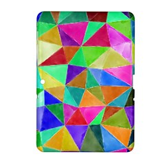 Triangles, colorful watercolor art  painting Samsung Galaxy Tab 2 (10.1 ) P5100 Hardshell Case